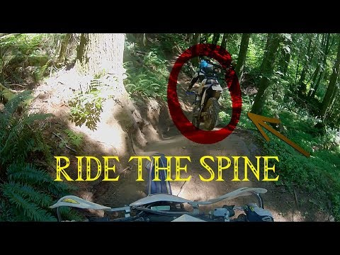 RIPPIN THE SPINE! - DIRT BIKING VEDDER B.C