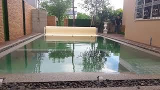 Polyคลุมสระว่ายน้ำเปิดปิดระบบauto บ้านลูกค้า จ.ปราจีนบุรี  By Rmouy Canvas