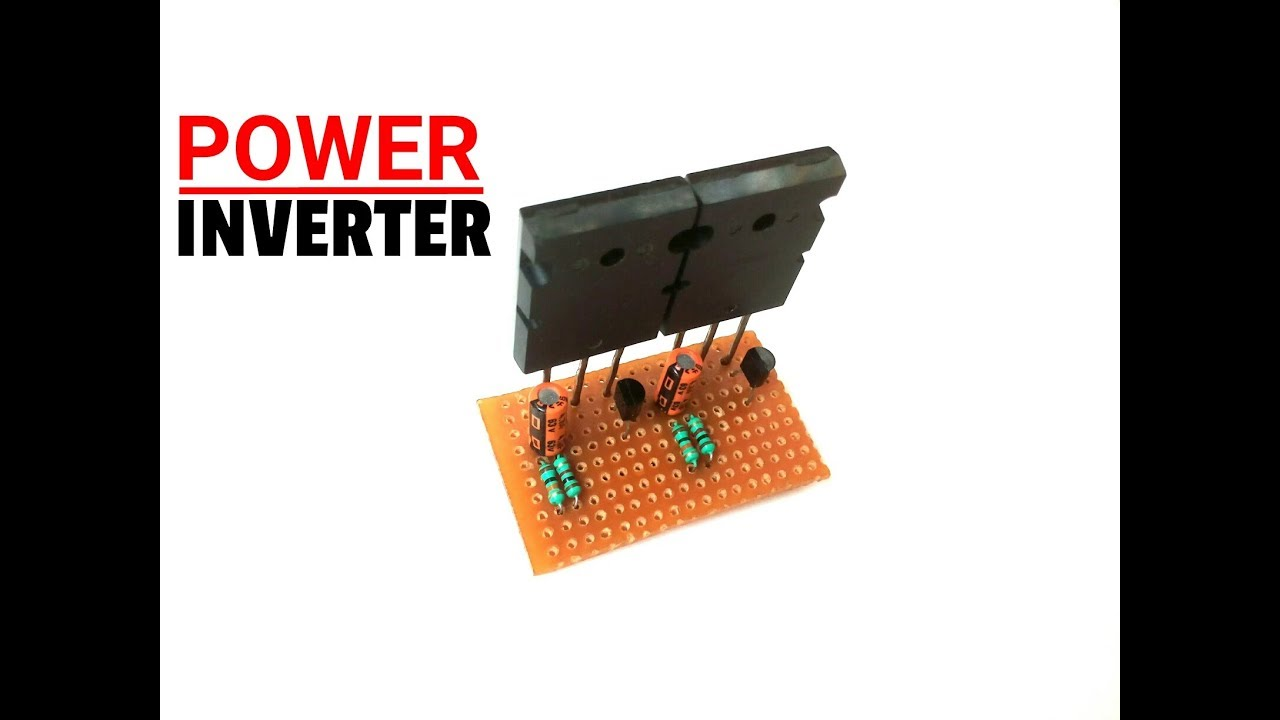 Simple Inverter Circuit 12vdc 220vac