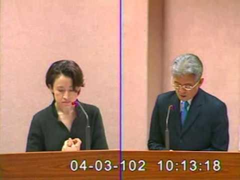 2013-04-03 蕭美琴 發言片段, 第8屆第3會期外交及國防委員會第12次全體委員會