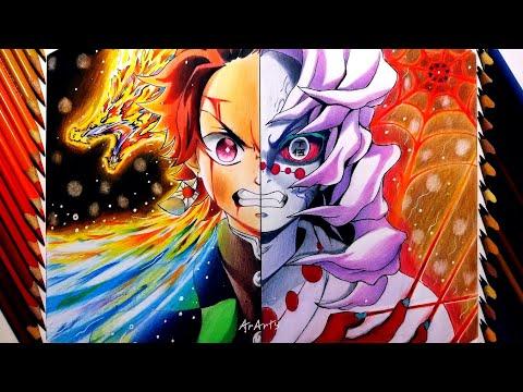 Speed Drawing - Tanjirou   Rui (Demon Slayer) [Клинок Рассекающий Демонов]