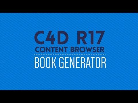 Cinema 4D R17 Content Browser Preset: Book Generator