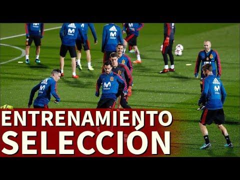Entrenamiento completo de la Selección española   Diario AS