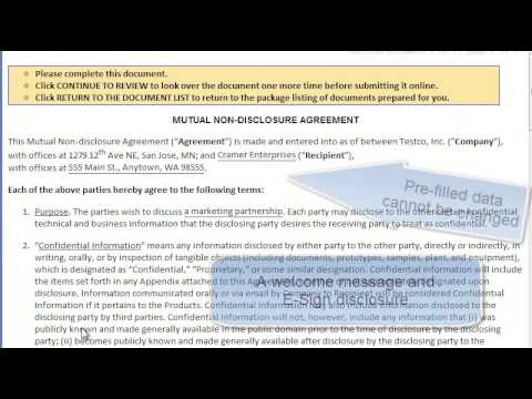 Send A Non Disclosure Agreement Nda For Two Signatures