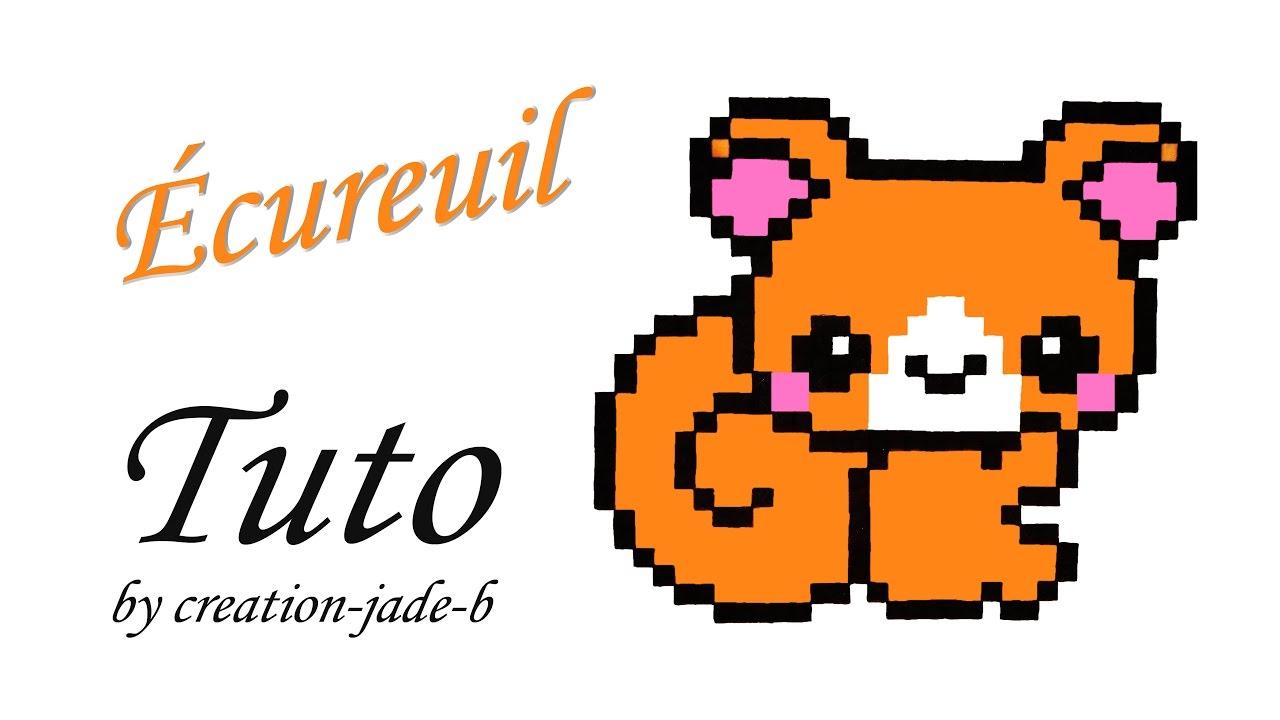 Tuto Pixel Art Petit écureuil Kawaii