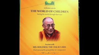 His Holiness address the students of Smile Foundation in Delhi