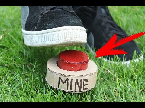 How to Make Airsoft Landmine from Cardboard| Airsoft Landmine(mine)