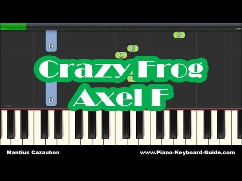 Crazy Frog Axel F Slow Easy Piano Tutorial How To Play Youtube
