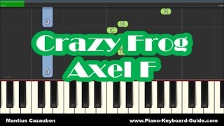 Crazy Frog - Axel F - Slow Easy Piano Tutorial - How To Play