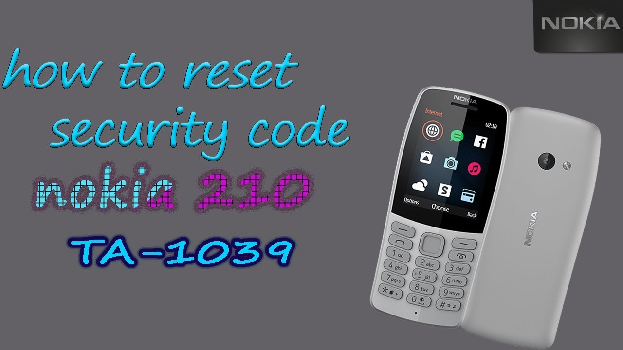 how to reset security code on nokia c3