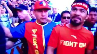 Ring entry Jeff Horn vs Manny Pacman Pacquiao