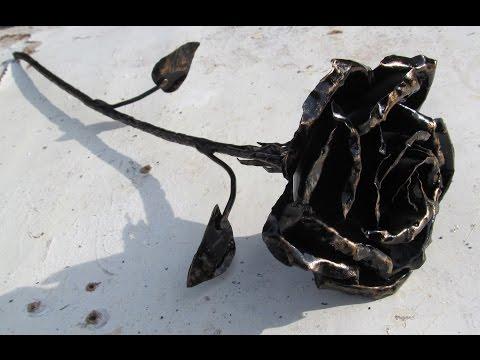Роза из металла своими руками без сварки