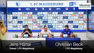 FCM: Pressekonferenz vor dem Spiel in Aue