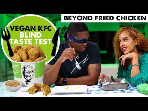 VEGAN KFC BEYOND FRIED CHICKEN REVIEW! | Blind Taste Test W/ Meat Eater Husband