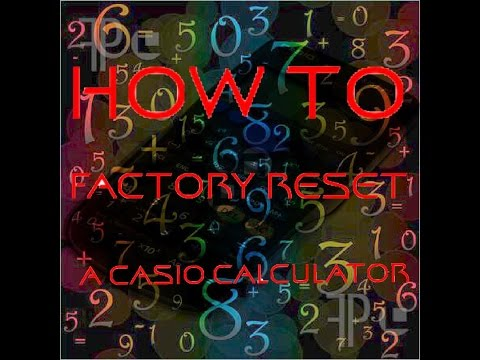 How to Clear the Memory of a Casio Calculator FOR EXAMS