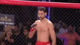Cocky Indian MMA fighter. Knocked out in 2 seconds