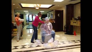 quail creek bank officers take a pie to the face for the march of dimes and team betsy