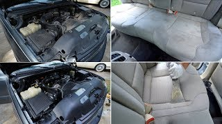 19 Year Old Engine Get Cleaned, Trashed Interior Gets Revived - Detail Day