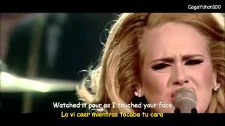 adele set fire to the rain lyrics sub español video official