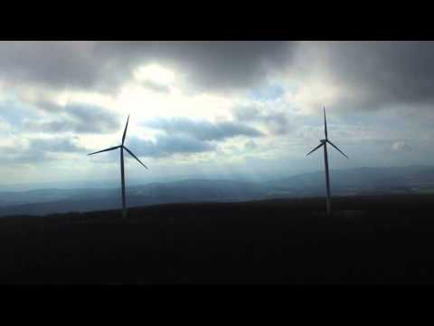DJI Inspire 1 Drone Windmills - Storm Winds, Wind Turbine Power - Go Green!  4k