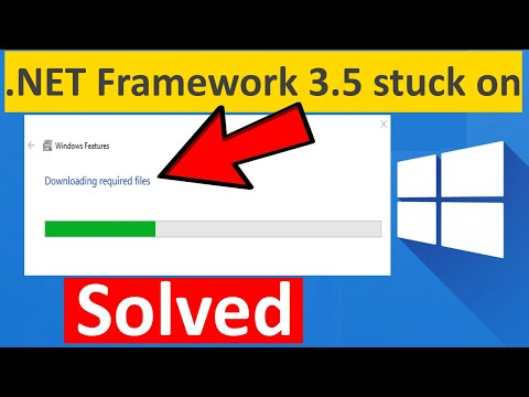 .NET Framework 3.5 Stuck On Downloading Required Files