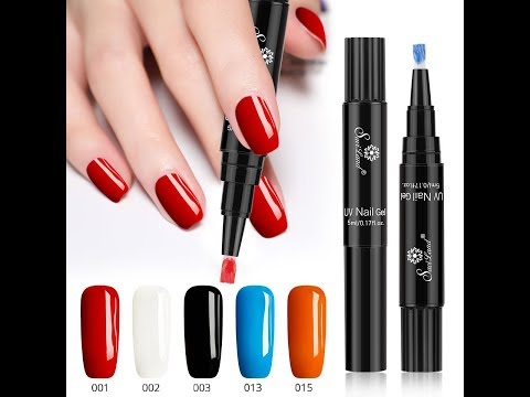 One Step Gel Nail Polish Pen Youtube