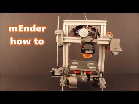mEnder: A tiny metal frame 3D printer