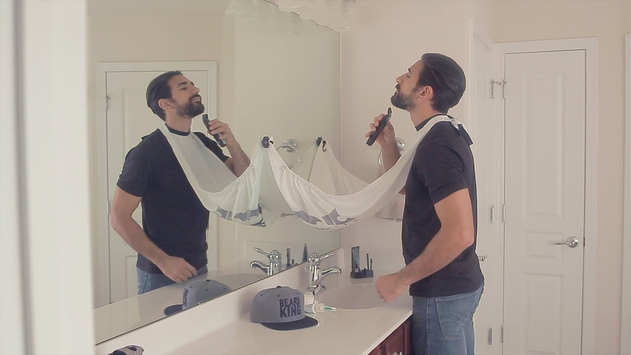 how to use the beard bib by beard king youtube. Black Bedroom Furniture Sets. Home Design Ideas