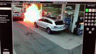 Gas Station Fire Extinguished by System