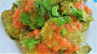 Голубцы из листьев салата. Сарма-Долма из салатных листьев. Готовим просто и легко!