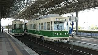 広島電鉄700形701号 広島港発車