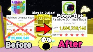 Level 1.8 Billion Rainbow Dominus Huge!! Stronger Than Before!! - Pet Simulator