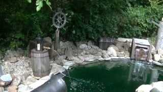 Pirate Pond 2014 With Cannon, Treasure Chest, Sword, Barrel, And Map