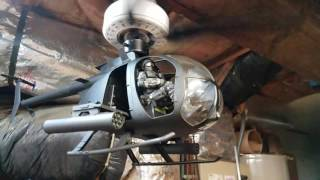 """AH-6 little bird """"Helicopter Ceiling Fan"""" 1/6 scale!!"""