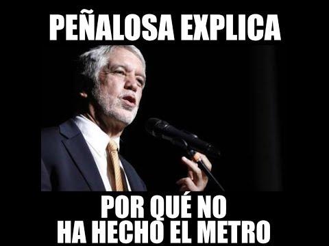 Peñalosa explica por qué no ha hecho el metro