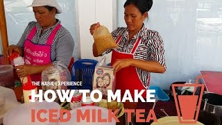 How to make Thai iced milk coffee or tea  ชาเย็น - Street Food