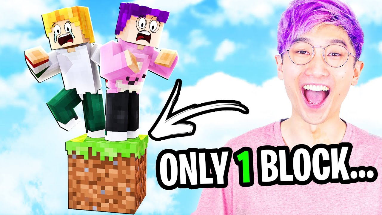 Can We Beat MINECRAFT BUT IT'S ONLY ONE BLOCK!? (SKYBLOCK)