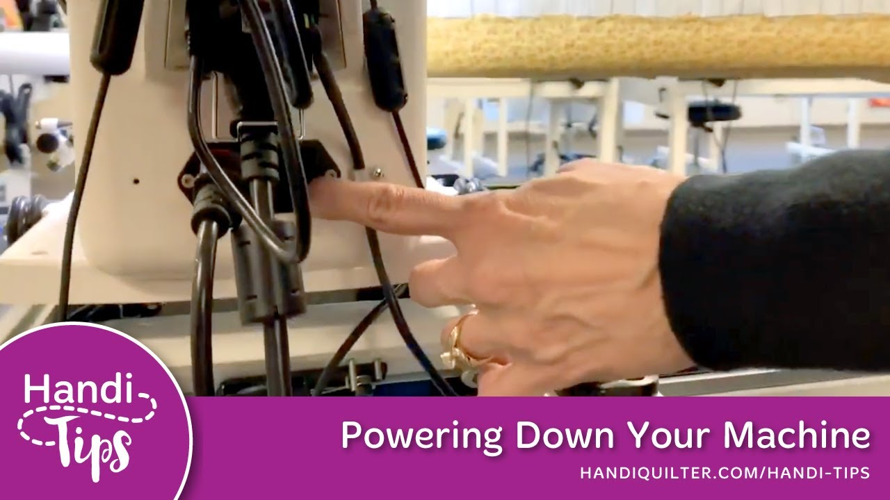 Powering Down Your Machine - Handi Tip