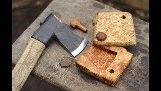 MAKING A WOOD AXE SHEATH - BIRCH BURL, CHARRY AND FAT WOOD
