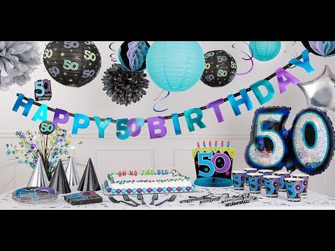 50th birthday decorations at cheap party shop