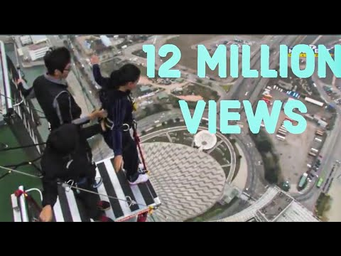 World's Highest Bungy Jump Macau - SCARY FUNNY JUMP , Indian Girl Says JAI HO Before She Jumps