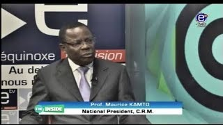 THE INSIDE (GUEST: Prof. MAURICE KAMTO) EQUINOXE TV SUNDAY APRIL 22nd 2018