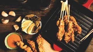 【鑄鐵鍋燒烤????】就是愛串燒!南洋沙嗲雞肉串 (Chicken Satay Kabobs)