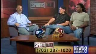 Chad Dukes & Lavar Arrington News Channel 8 Sports Talk part 2