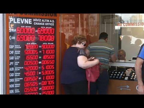 Lira turca está em queda livre