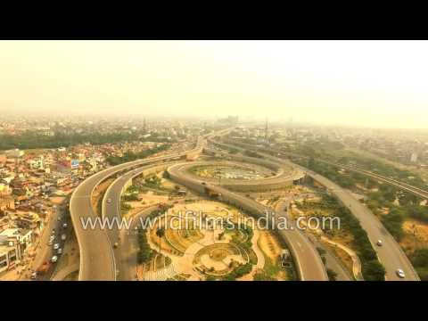 Hovering over National Highway 2 in Delhi: aerials