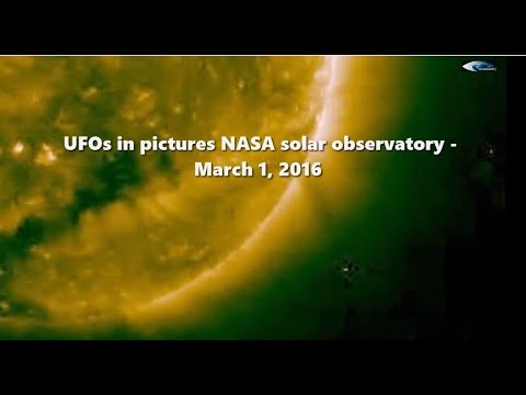 UFOs in pictures NASA solar observatory - March 1, 2016