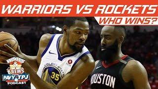 Who Wins Golden State Warriors vs Houston Rockets? | Hoops N Brews