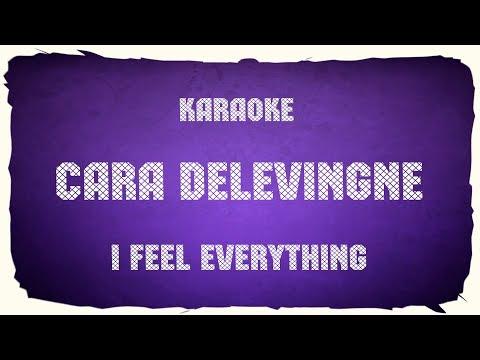 "Cara Delevingne ""I Feel Everything"" (karaoke+chords)"