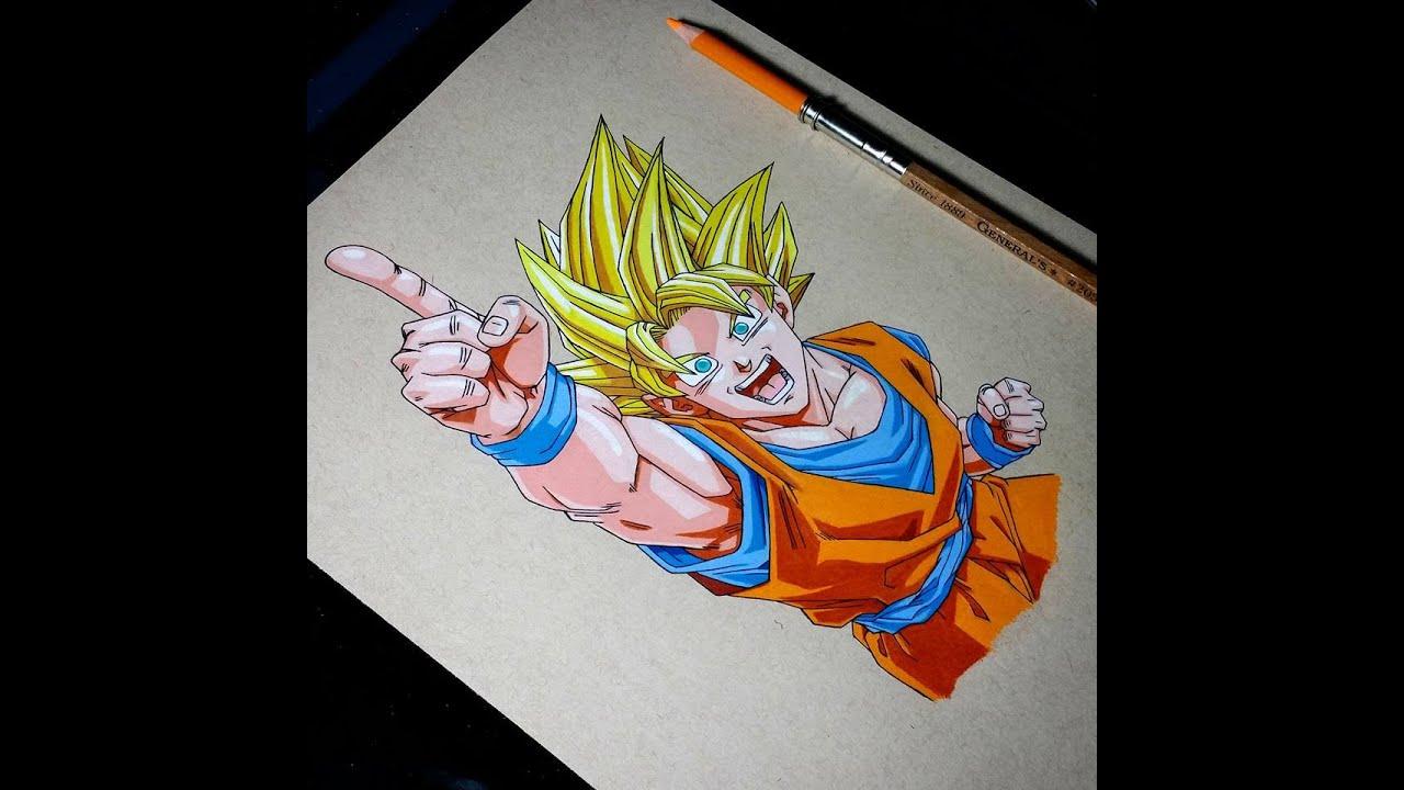 Drawing Goku Super Saiyan Youtube